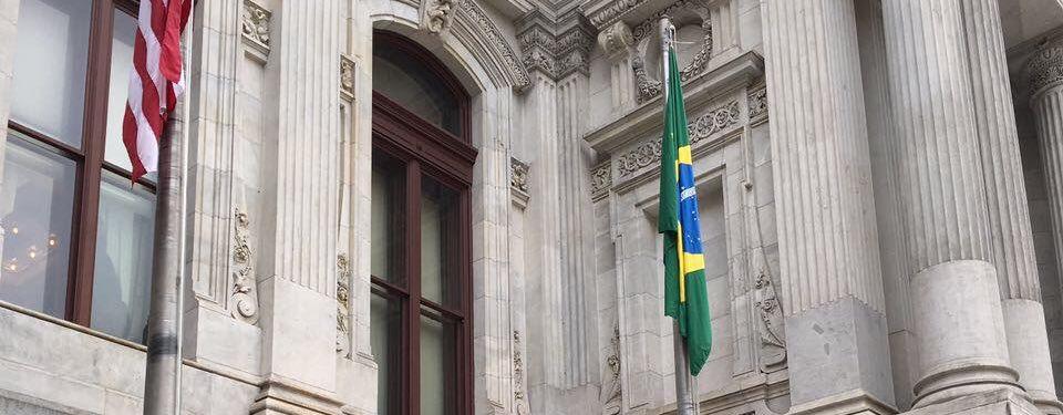 Brazilian Flag Raising Ceremony